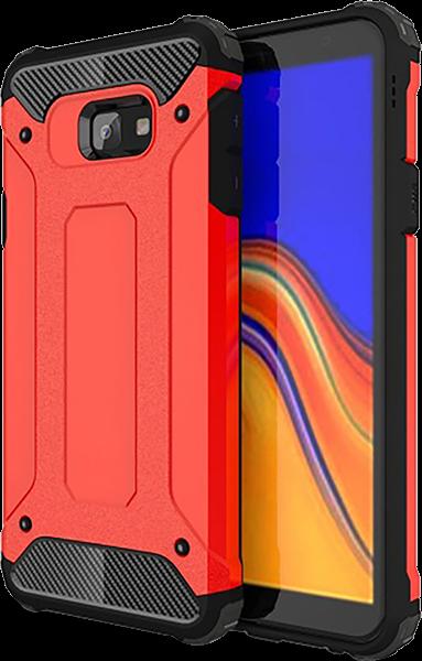 Samsung Galaxy J4 Plus (J415F) ütésálló tok légpárnás sarok piros