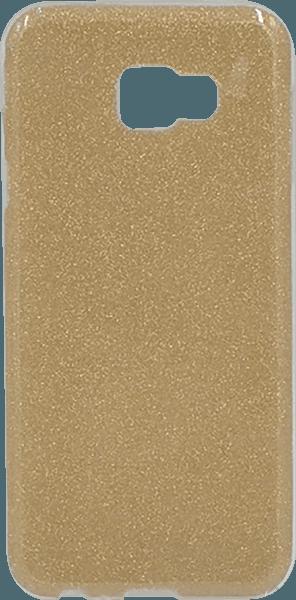 Samsung Galaxy J4 Plus (J415F) szilikon tok csillogó hátlap arany
