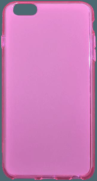 Apple iPhone 6S szilikon tok fényes keret rózsaszín
