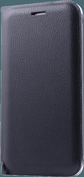 Samsung Galaxy J5 2016 (J510) oldalra nyíló flipes bőrtok fekete