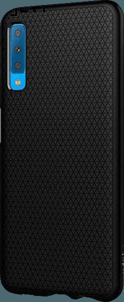 Samsung Galaxy A7 2018 (SM-A750F) szilikon tok gyári SGP háromszög minta fekete