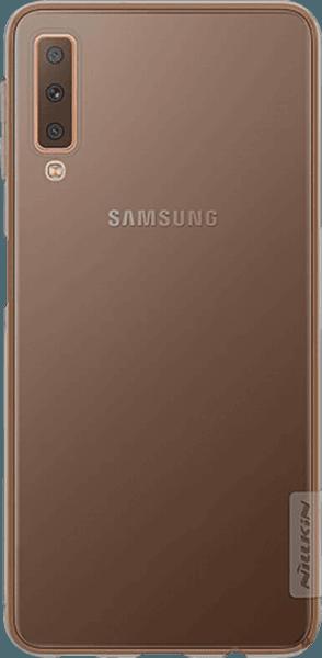 Samsung Galaxy A7 2018 (SM-A750F) szilikon tok gyári NILLKIN ultravékony szürke