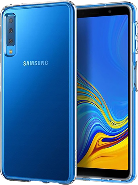 Samsung Galaxy A7 2018 (SM-A750F) ütésálló tok gyári SGP légpárnás sarok átlátszó