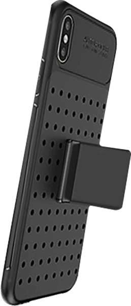 Apple iPhone XS Max ütésálló tok szilikon keret fekete