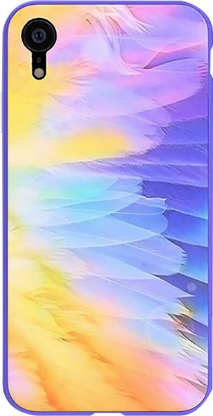 Apple iPhone XR bumper gyári NILLKIN edzett üveg hátlap színes