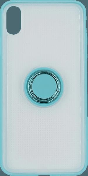 Apple iPhone XR szilikon tok gyári BASEUS beépített fémlemez kék
