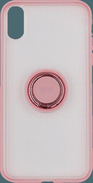 Apple iPhone XR szilikon tok gyári BASEUS beépített fémlemez rózsaszín