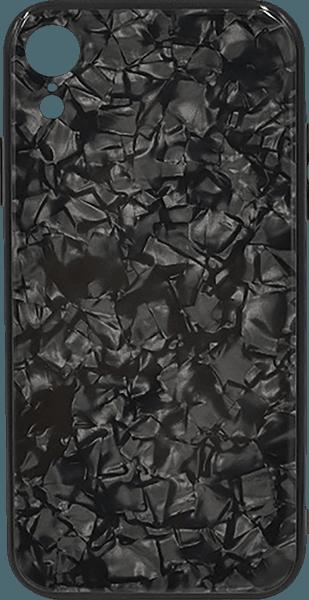 Apple iPhone XR bumper gyári PRODA edzett üveg hátlap fekete