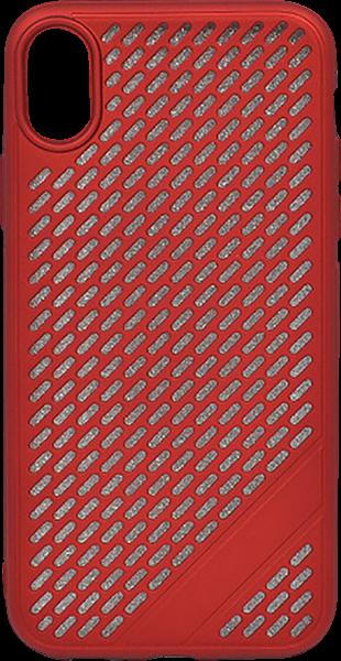 Apple iPhone XR szilikon tok lyukacsos piros