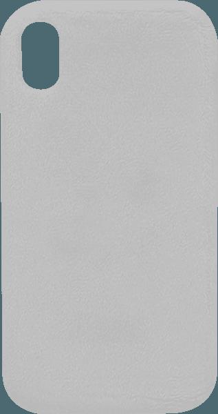 Apple iPhone XR szilikon tok plüss bevonat fehér