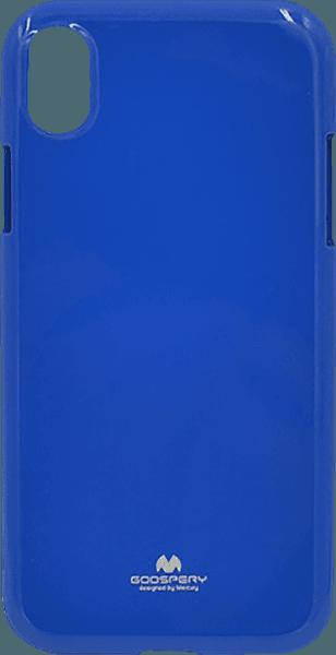 Apple iPhone XR szilikon tok gyári MERCURYCASE csillámporos sötétkék