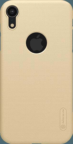 Apple iPhone XR kemény hátlap gyári NILLKIN logó kivágás gumírozott-érdes felületű arany