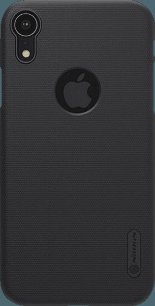 Apple iPhone XR kemény hátlap gyári NILLKIN logó kivágás gumírozott-érdes felületű fekete