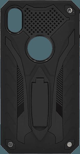 Apple iPhone XR ütésálló tok logó kihagyós fekete