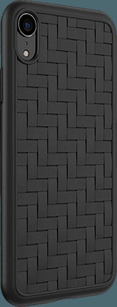 Apple iPhone XR szilikon tok gyári HOCO fonott minta fekete