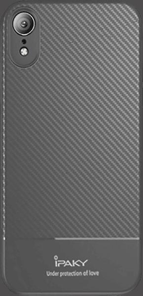 Apple iPhone XR szilikon tok gyári IPAKY karbon mintás szürke