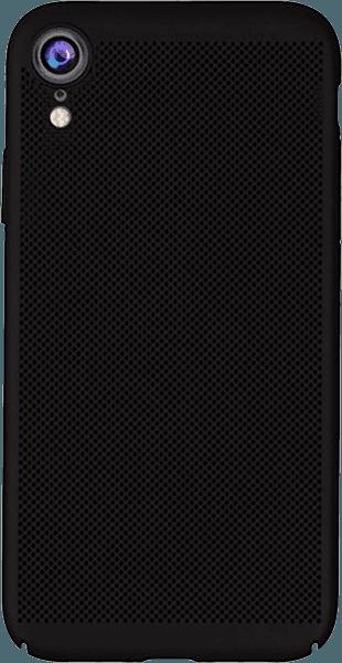 Apple iPhone XR kemény hátlap lyukacsos minta fekete