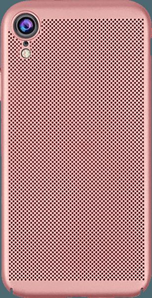 Apple iPhone XR kemény hátlap lyukacsos minta rozéarany