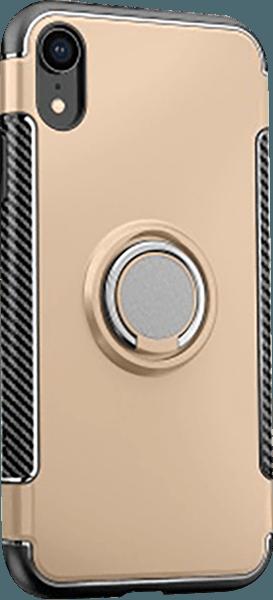 Apple iPhone XR kemény hátlap telefontartó gyűrű arany