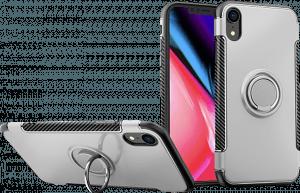Apple iPhone XR kemény hátlap telefontartó gyűrű ezüst