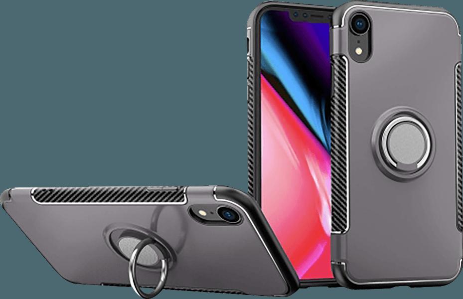 Apple iPhone XR kemény hátlap beépített fémlemez szürke