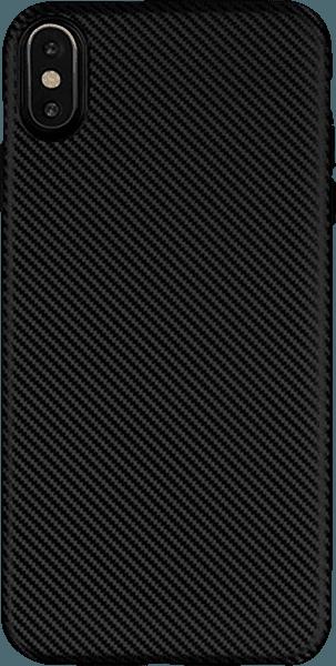 Apple iPhone XR szilikon tok karbon mintás fekete