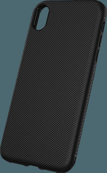 Apple iPhone XR szilikon tok nyakba akasztható fül fekete