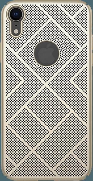 Apple iPhone XR kemény hátlap gyári NILLKIN logó kihagyós arany
