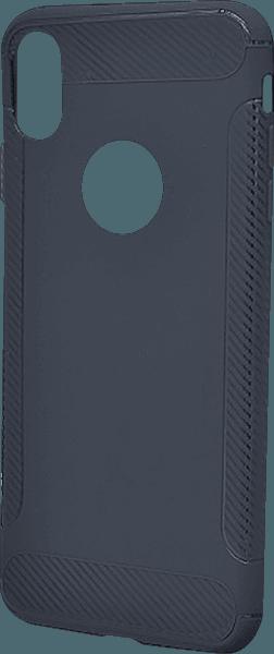 Apple iPhone XR szilikon tok logó kihagyós sötétkék