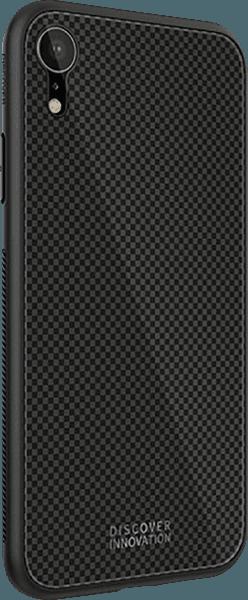 Apple iPhone XR bumper gyári NILLKIN edzett üveg hátlap fekete