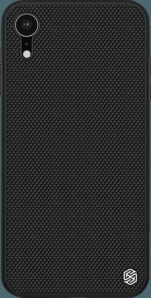 Apple iPhone XR kemény hátlap gyári NILLKIN szilikon keret fekete