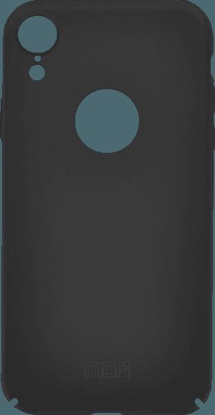 Apple iPhone XR kemény hátlap gyári MOFI logó kihagyós fekete