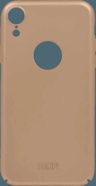 Apple iPhone XR kemény hátlap gyári MOFI logó kihagyós arany