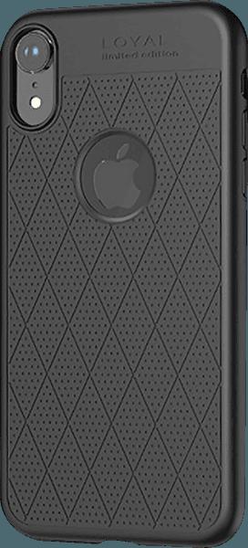 Apple iPhone XR szilikon tok gyári HOCO logó kihagyós fekete