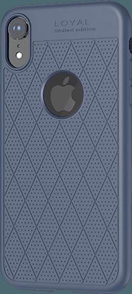 Apple iPhone XR szilikon tok gyári HOCO logó kihagyós kék