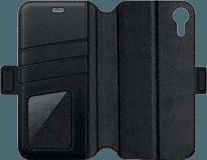 Apple iPhone XR oldalra nyíló flipes bőrtok gyári NILLKIN termék fekete