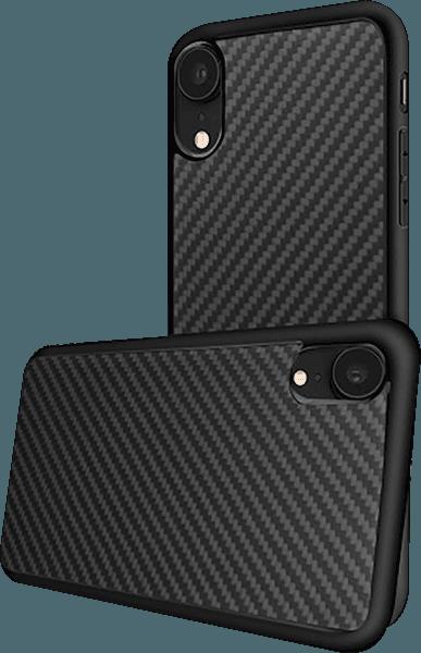 Apple iPhone XR szilikon tok kevlár borítás fekete