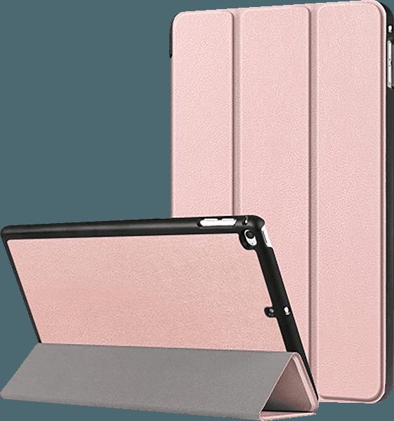Apple iPad Mini 4 oldalra nyíló flipes bőrtok TRIFOLD asztali tartó funkció rózsaszín