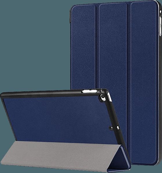Apple iPad Mini 4 oldalra nyíló flipes bőrtok TRIFOLD asztali tartó funkció sötétkék