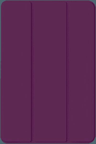 Apple iPad Mini 4 oldalra nyíló flipes bőrtok TRIFOLD asztali tartó funkció lila
