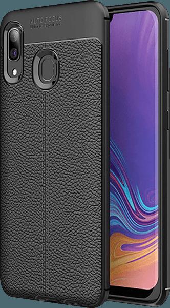 Samsung Galaxy A40 (SM-405) szilikon tok varrás mintás fekete