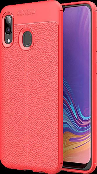 Samsung Galaxy A40 (SM-405) szilikon tok varrás mintás piros