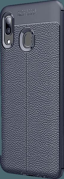 Samsung Galaxy A40 (SM-405) szilikon tok varrás mintás sötétkék