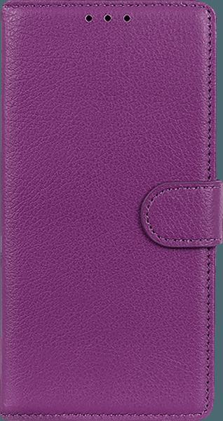 Samsung Galaxy A40 (SM-405) oldalra nyíló flipes bőrtok asztali tartó funkciós lila