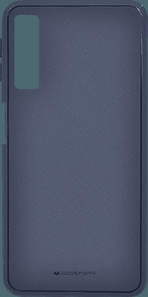 Samsung Galaxy A7 2018 (SM-A750F) kemény hátlap gyári MERCURYCASE szövetminta sötétkék