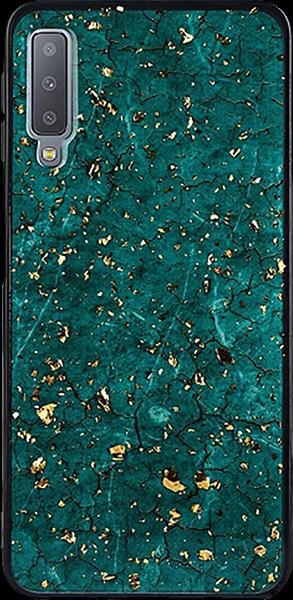 Samsung Galaxy A7 2018 (SM-A750F) szilikon tok epoxy zöld