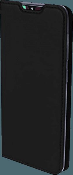 Samsung Galaxy A40 (SM-405) oldalra nyíló flipes bőrtok gyári DUX DUCIS bankkártya tartó fekete