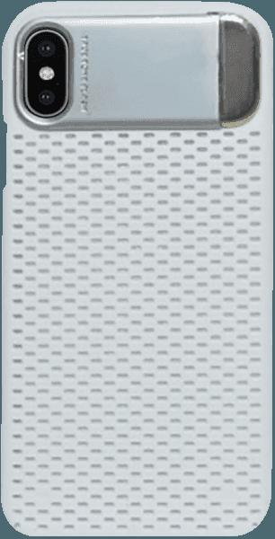 Apple iPhone X kemény hátlap kitámasztó ezüst