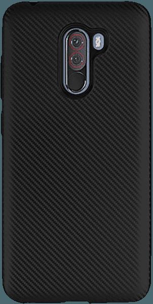 Xiaomi Pocophone F1 szilikon tok karbon mintás fekete