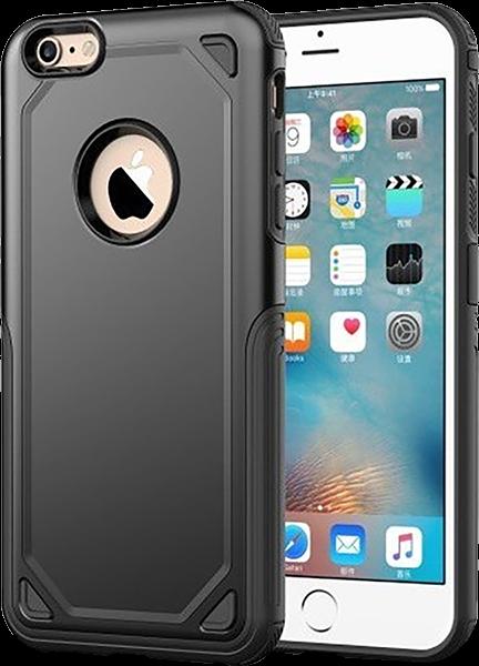 Apple iPhone 6S ütésálló tok logó kihagyós fekete